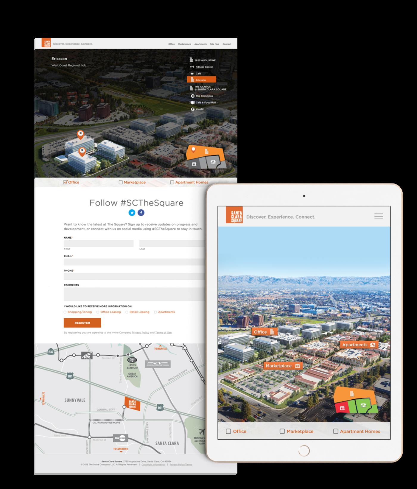 Santa Clara Square Interactive Sitemap